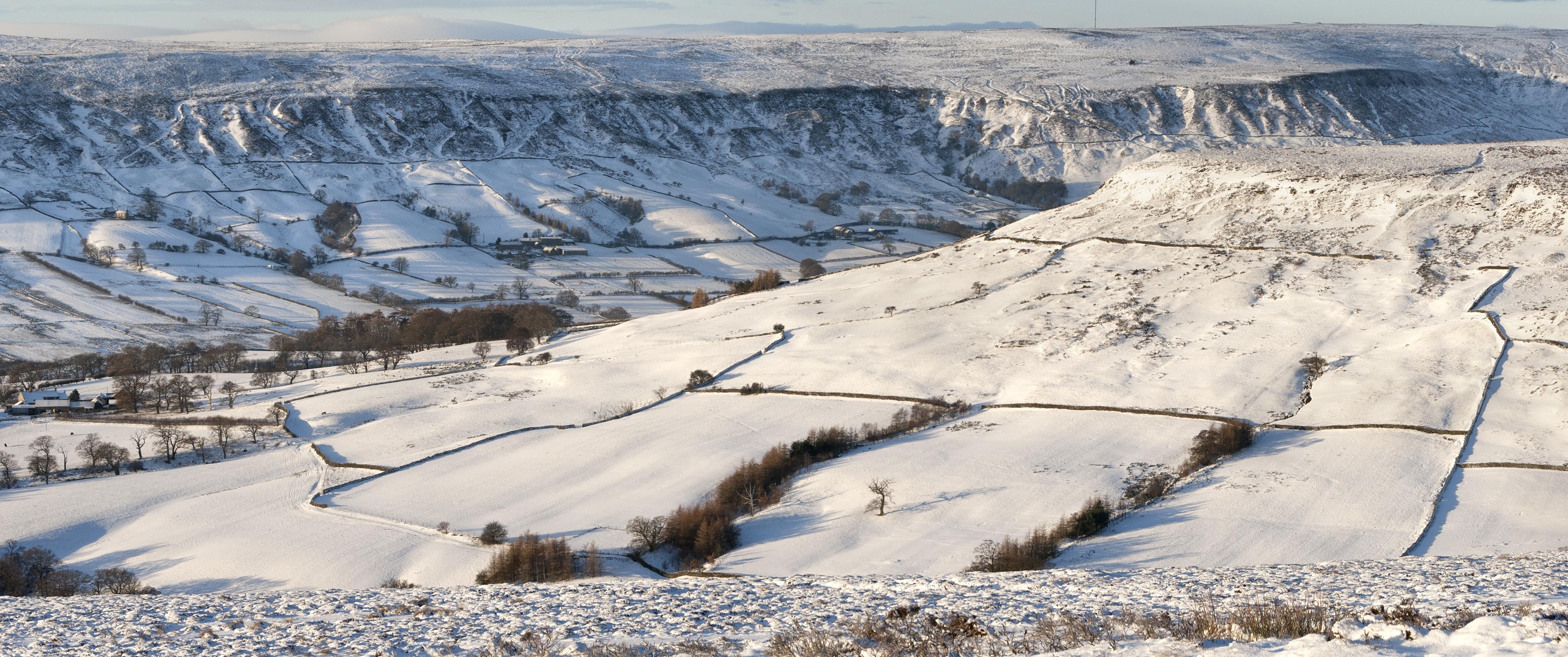 Stunning winter scenery North York Moors