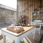 Tea on the terrace in the sunshine at a holiday rental in North Yorkshire