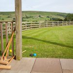 Holiday home croquet lawn in Danby Dale, Whitby, NorthYorkshire
