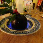 Homemade flaming Christmas pud!
