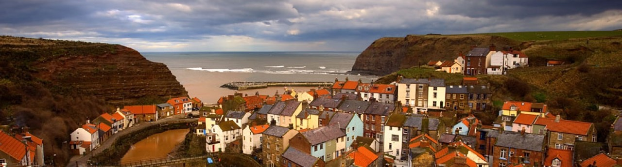 The old fishing village of Staithes