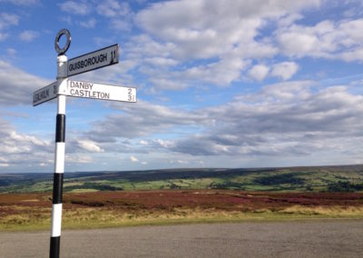 sign post to a North York Moors holiday cottage Danby Beacon