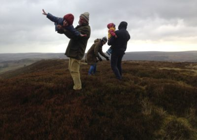 Flying the children on the North York Moors