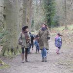 Walking in the woods near Falling Foss