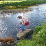 Frolicking in the Esk valley rivers