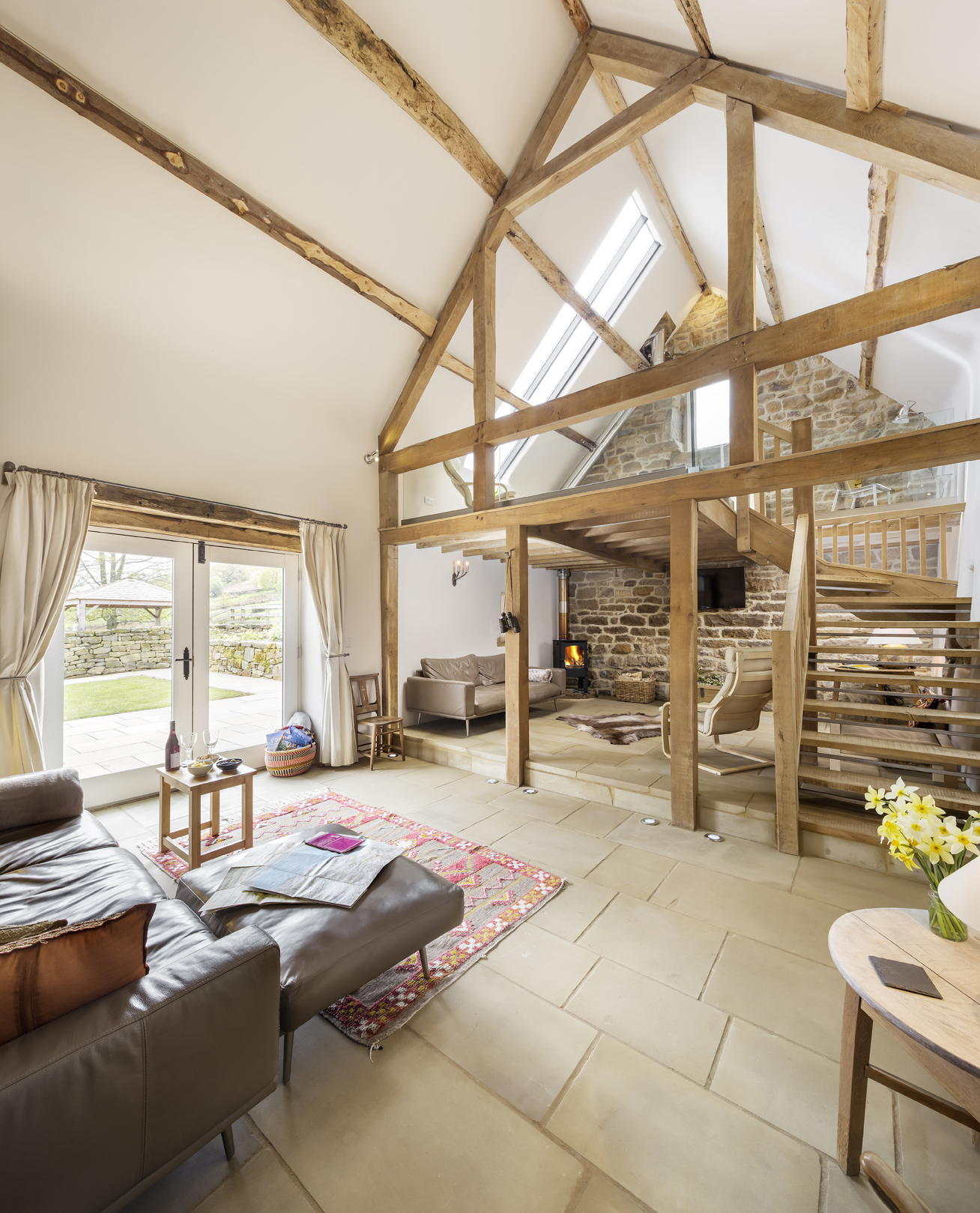 Lovely big light and airy south facing sitting room