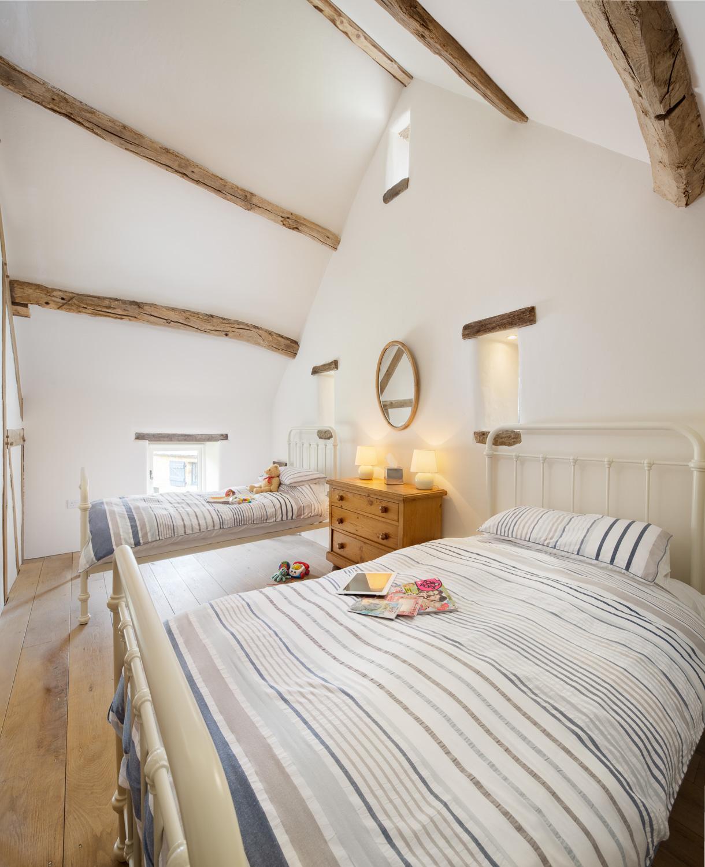 Twin bedroom 5* luxury holiday cottage North York Moors