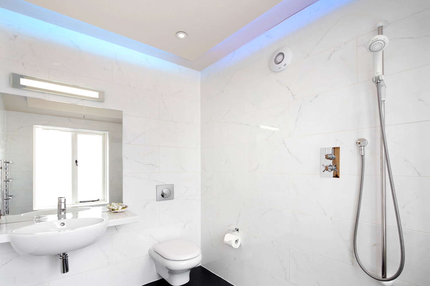ground floor wet room North York moors national Park Large ground floor wet room with fun disco lighting too!