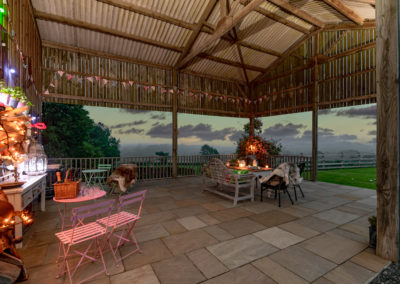 Covered Barbecue area and fantastic views