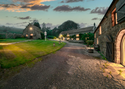Crag House Farm Yorkshire at twilight