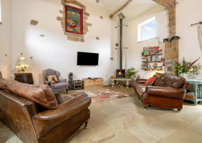 Spacious but cosy with underfloor heating and a log burning stove