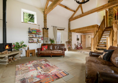 Cosy barn sitting room